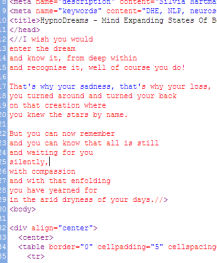 HTML Poetry From The Past