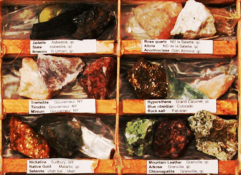 rock collection close up of some rocks, crystals and minerals
