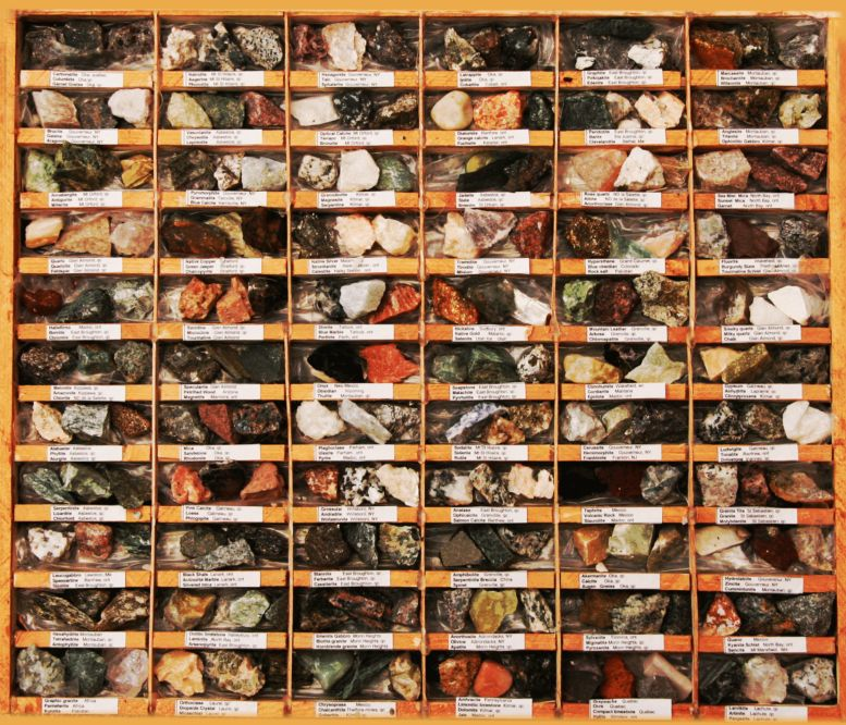 a rock collection of over 240 different rocks, crystals, minerals